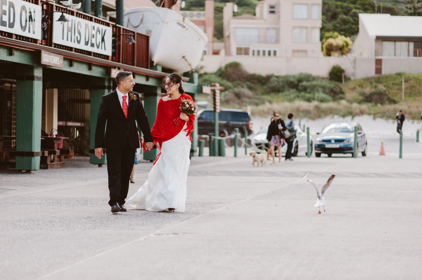 Houtbay harbour wedding photography