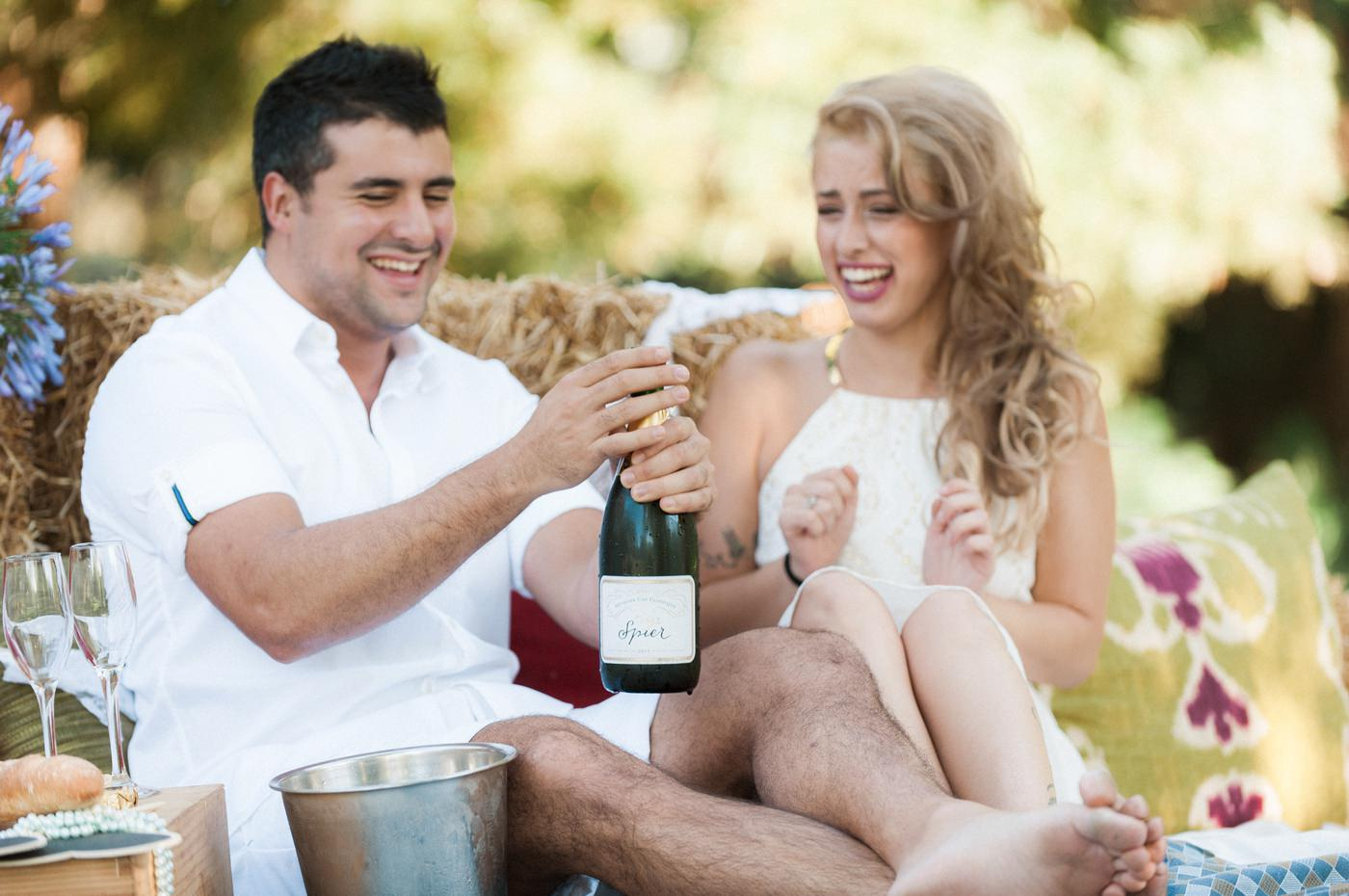Engagement photography at Spier Wine Farm