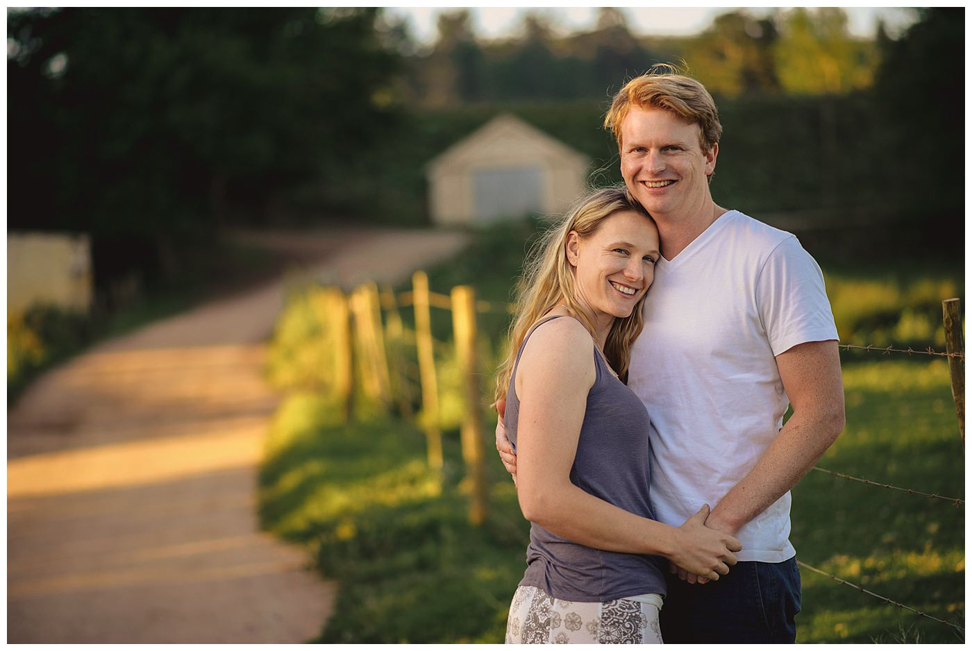 Elgin farm engagement photography
